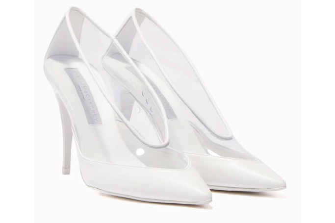 Stella McCartney - White Transparent Point-Toe Pumps